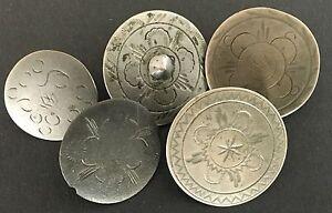 5 Scheibenknöpfe 16.-18. Jahrhundert süddeutsch