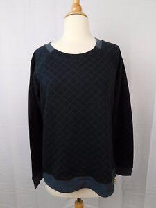 Image is loading Alfani-Sleepwear-Quilted-Raglan-Sleeve-Pajama-Top-Black- a7256f1b6