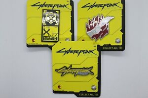 Cyberpunk 2077 Enamel pins Set of three