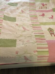Pottery Barn Kids Pocket Full Of Posies Quilt Twin With