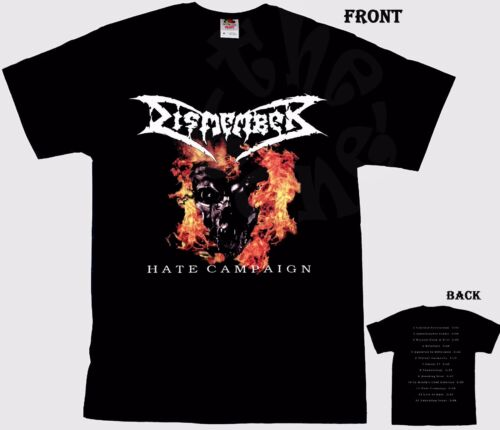 Hate Campaign Swedish death metal band T/_shirt-SIZES:S to 6XL DISMEMBER