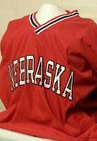 Nebraska Team Edition Apparel Red Windbreaker Collegiate Jacket Size Medium