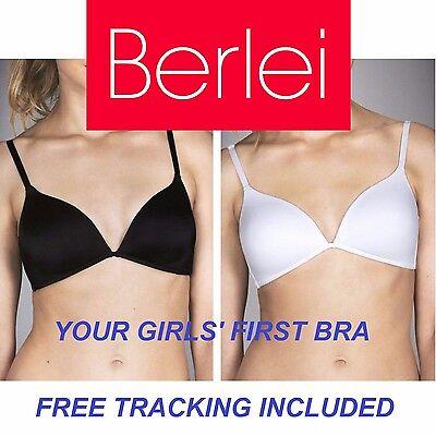 GIRLS BERLEI YOUTH BRA Wirefree Training Wire Free Ladies Women BLACK WHITE YZS6