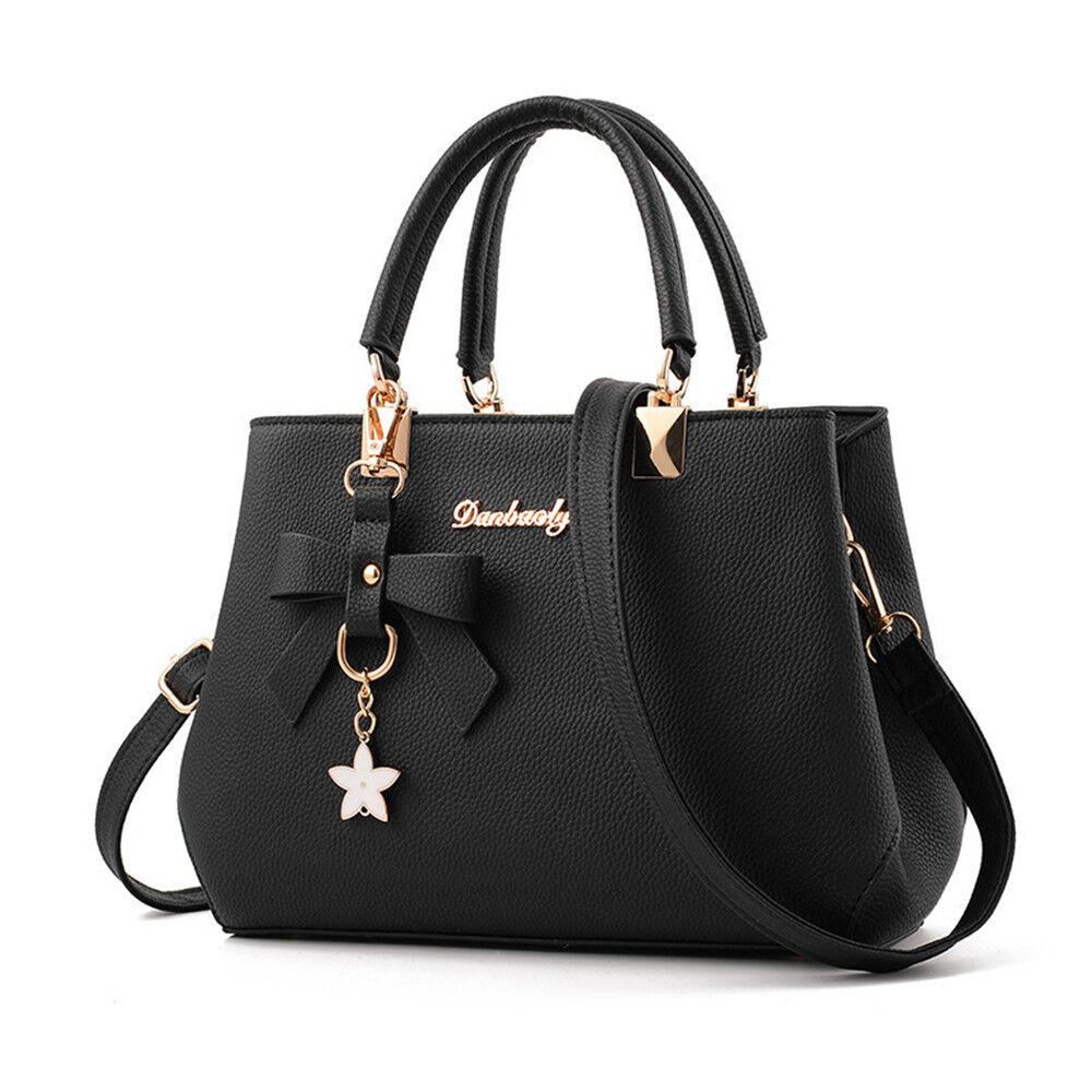 Women PU Leather Handbag Shoulder Messenger Satchel Crossbody Purse