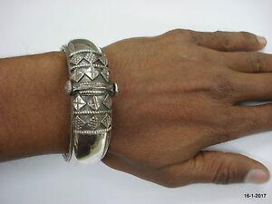 Traditional design sterling silver bangle bracelet cuff handmade jewellery