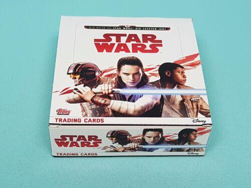 Topps Star Wars 2017 la dernière Jedi 1 x Display//30 BOOSTER TRADING CARDS