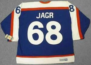 hot sale online 9a05f 1af51 Details about JAROMIR JAGR New York Rangers 1970's CCM Vintage Throwback  NHL Hockey Jersey