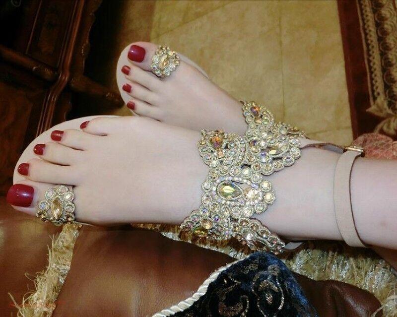 Bohemia Mujeres Anillo del dedo del del del pie Playa Pedrería Zapatos sin Taco Bling Bling Moda Vacaciones a465fc