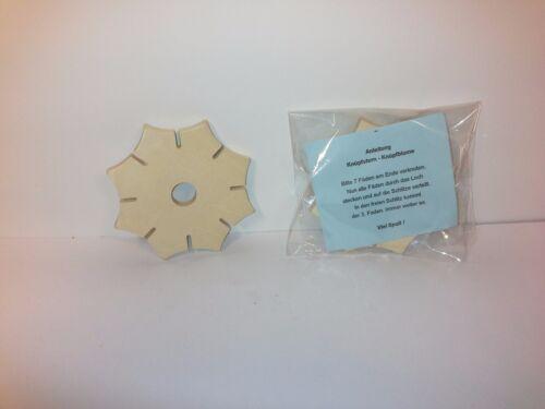 5x Knüpfstern zum knüpfen von Schnüren wie Knüpfblume  Kita Qualität