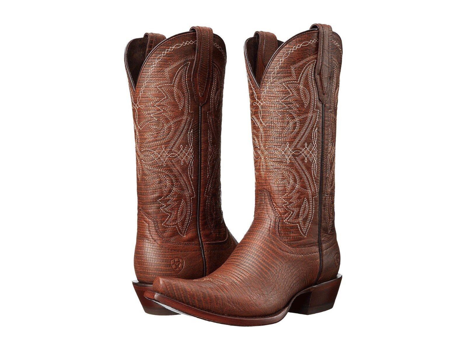 Ariat Alamar   Womens Boots  Chocolate Chocolate Chocolate Lizard Print Leather  8.5  NIB c9cb32
