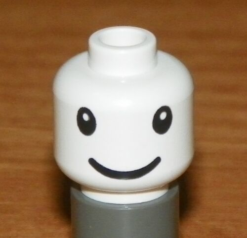 LEGO White Head with Nesquik Bunny Eyes and Smile Pattern Minifig