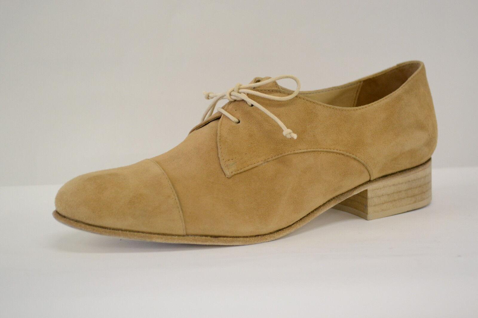 zapatos mujer mujer mujer ALLACCIATE CAMOSCIO BEIGE CAMMELLO ARTIGIANALI35 36 37 38 39 40 41  primera reputación de los clientes primero