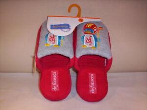 Ciabatte-pantofole-chiuse-De-Fonseca-bambino-bambina-casa-rosso-blu-31-32-33-34