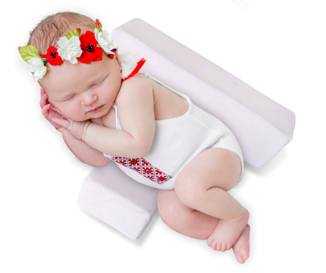 Side Support No More Sleepless Nights Newborns Infant Baby Sleep Pillow Pink
