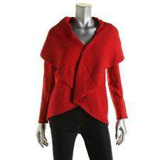Alfani 4246 Womens Red Ribbed Knit Open Front Cardigan Sweater Top XL BHFO