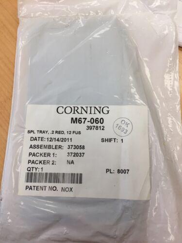 Siecor Corning Fusion Fiber Optic Small Splice Tray M67-060 12 fiber