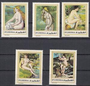 Fujeira-648-653-postfrisch-Aktgemaelde-von-Auguste-Renoir
