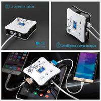 5in1 12V/24V 3 Car Cigarette Lighter Socket +4 USB Charger Adapter Multifuction