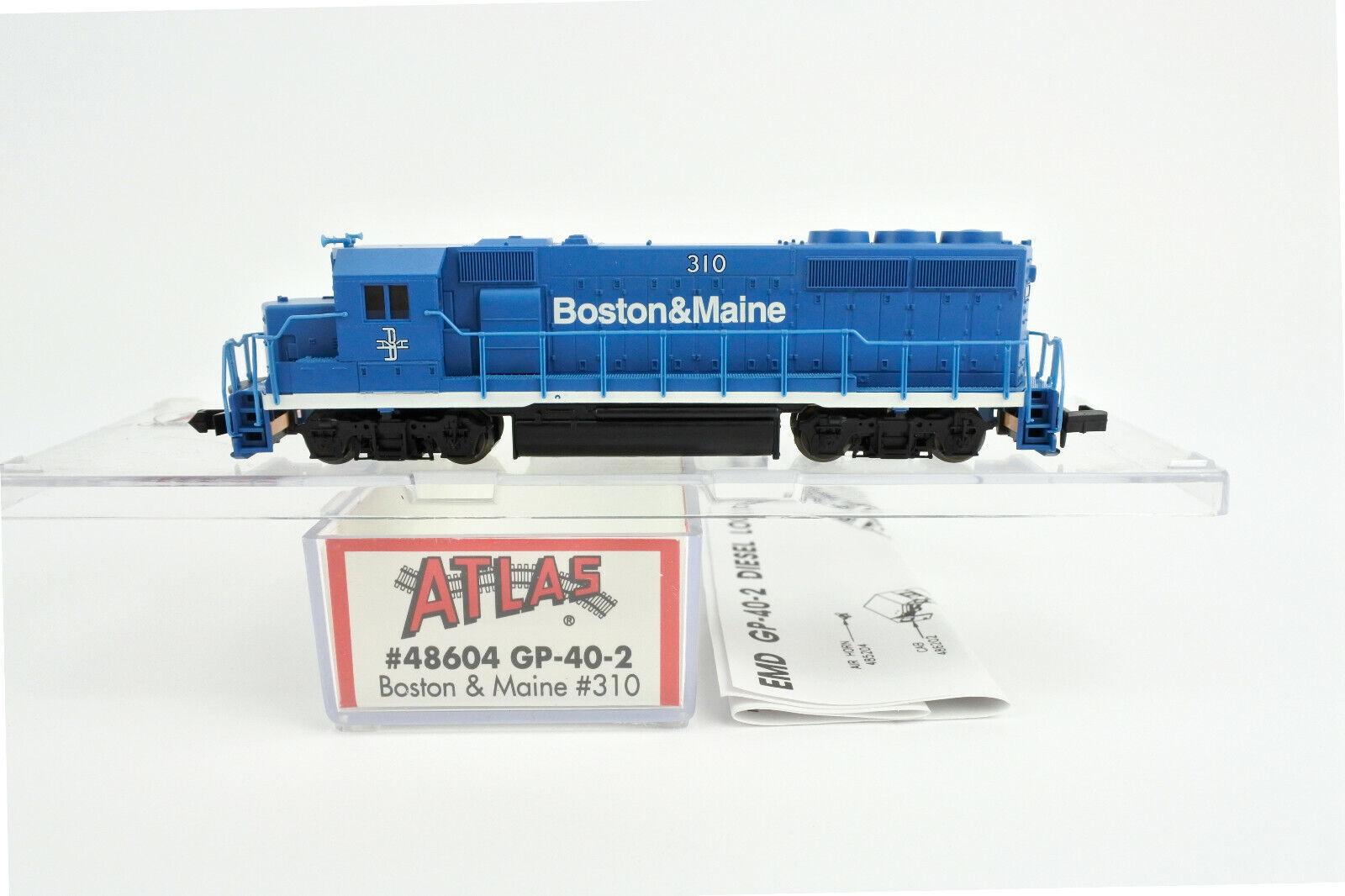 ATLAS N SCALE 48604 BOSTON & MAINE GP40-2 DIESEL ENGINE  310  A
