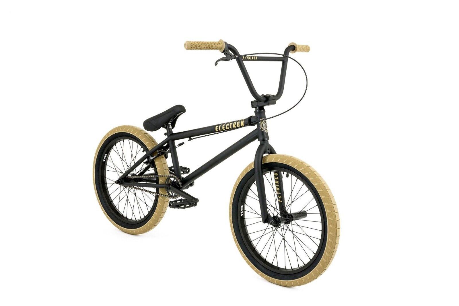 Fly Bikes 2018 Electron Electron Electron LHD Street Park Bicicleta BMX Negro Plano 20.5 en toptube 44c028