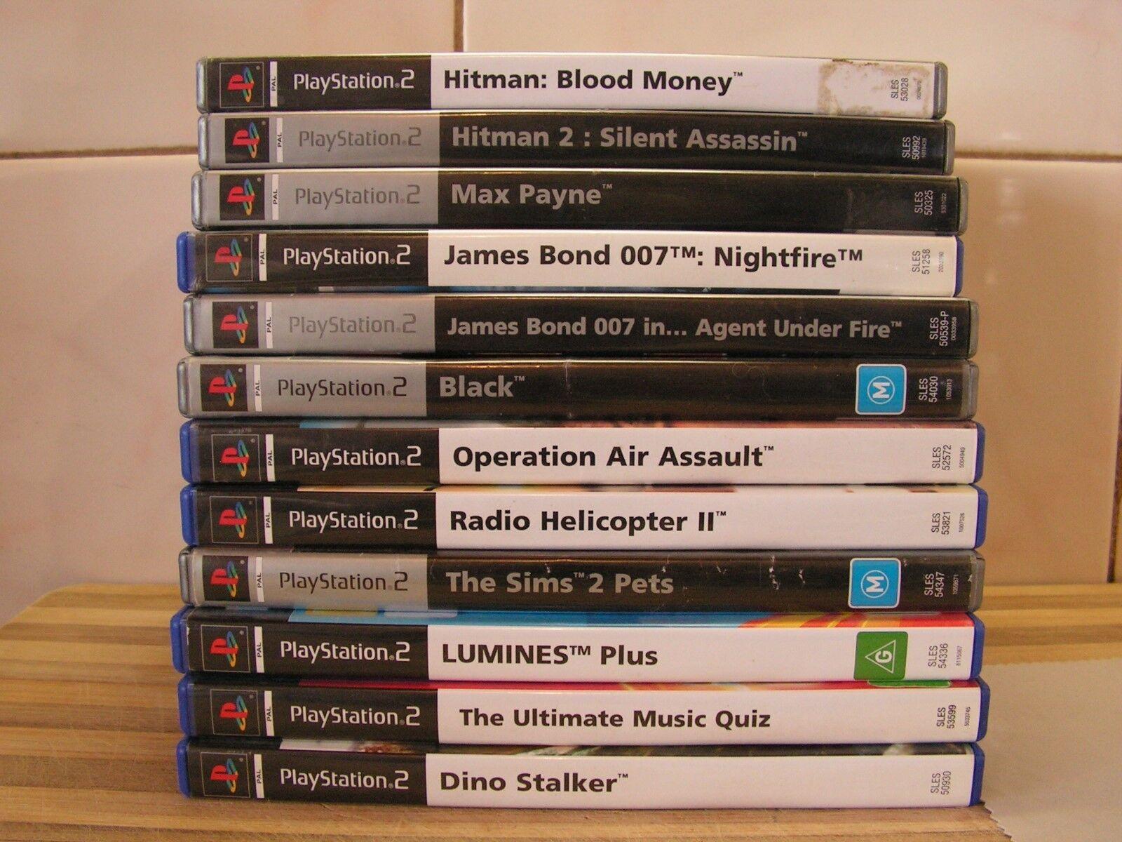 Juegos PS2 Hitman, James Bond 007, Sims, Max Payne, Negro, etc. Escoge 1 GC