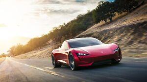 2020-Tesla-Roadster-Auto-Car-Art-Silk-Wall-Poster-Print-24x36-034