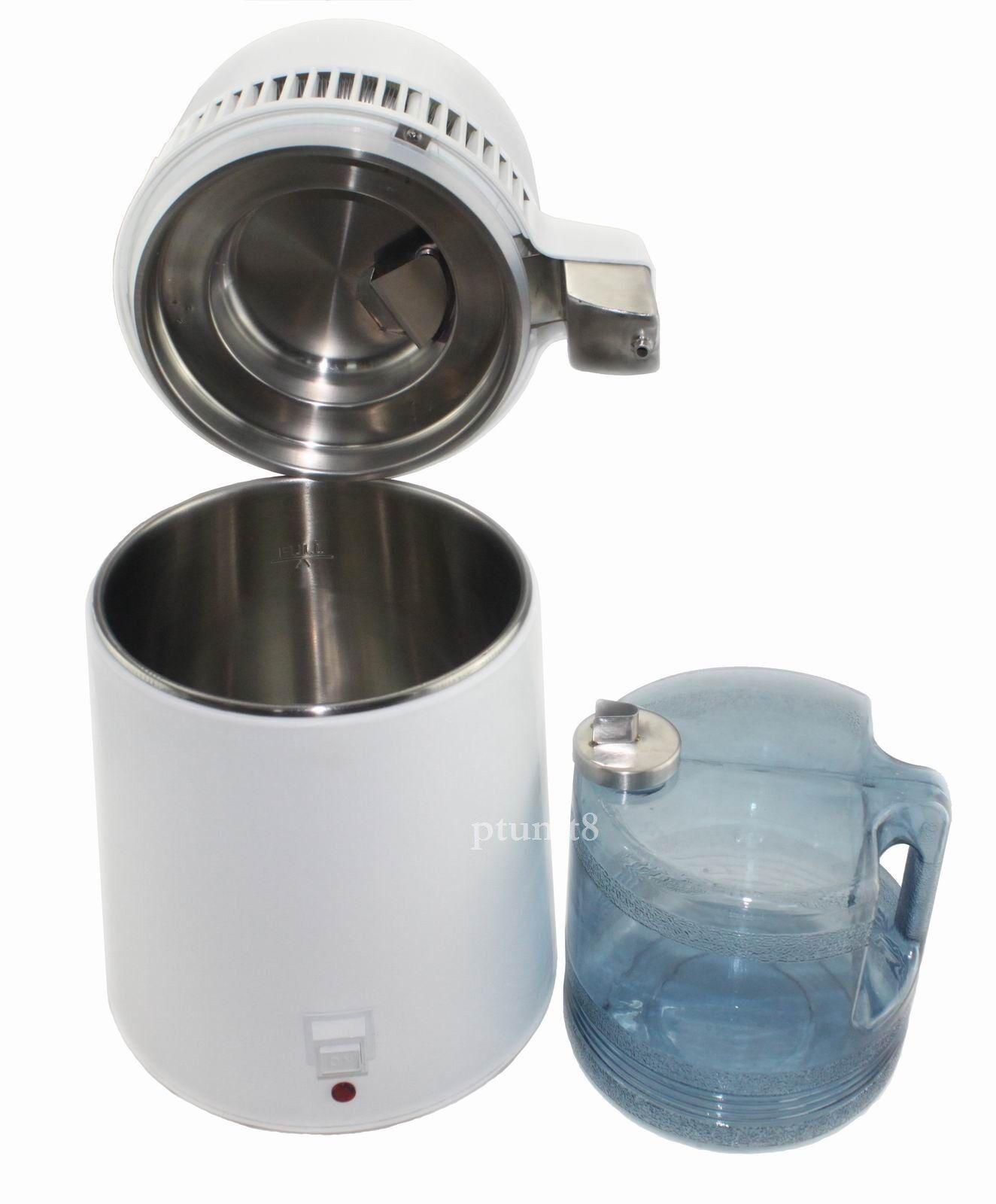 Nouveau 4 L Water Distiller Pure Purificateur Filtre en acier inoxydable Filtre bouchon Best - 007