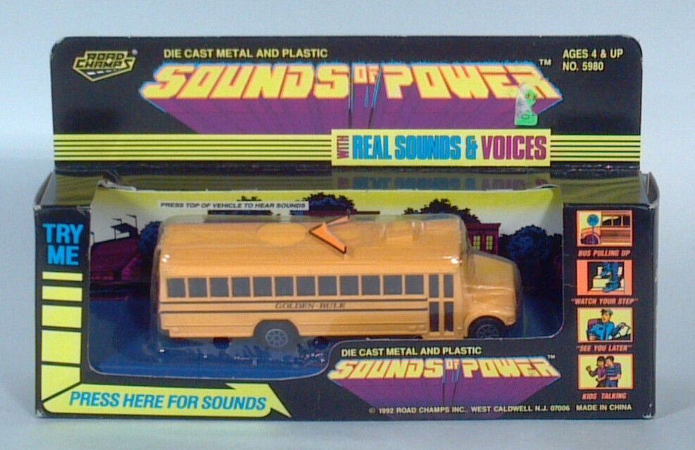 RARE ROAD CHAMPS Sounds of Power International Wayne CORPS SCHOOL BUS SCALE MODEL
