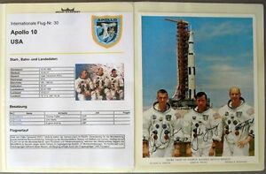 s1846-Raumfahrt-Space-Kosmos-Apollo-10-Sammlung-mit-Autogrammen-Signature