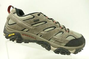 Merrell-Gray-Leather-Lace-Up-Hiking-Trail-Outdoors-Shoes-Men-039-s-11-5