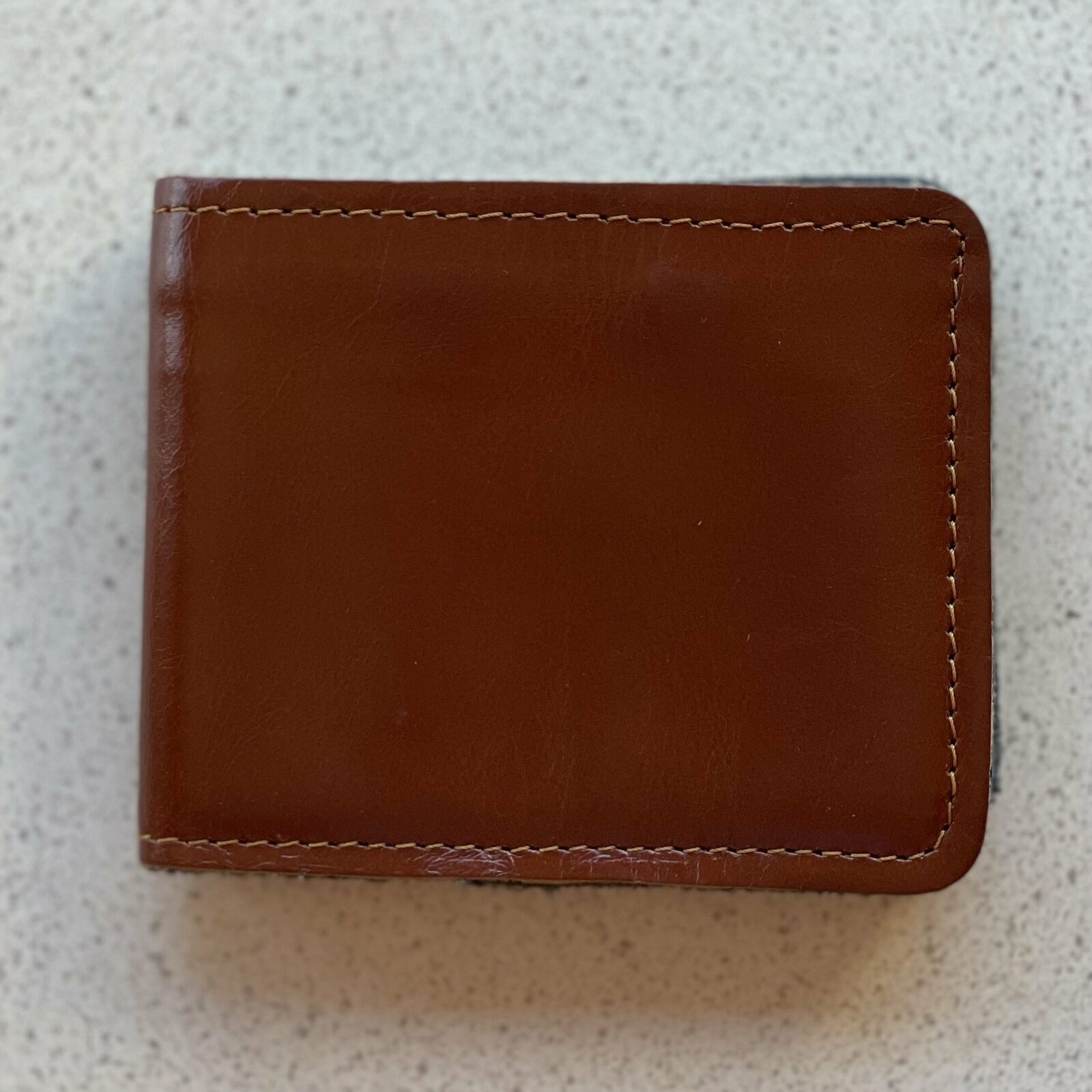 Hand Crafted Buffalo Leather Wallet - Tan