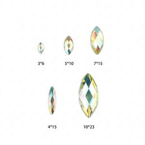 Faceted-AB-Clear-Horse-Eye-Flat-Back-Face-Body-Gems-Festival-Jewel-Make-up-Craft