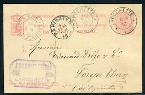Logique Luxembourg - Entier Postal De Larochette Pour Pepinster En 1892 - Réf M94