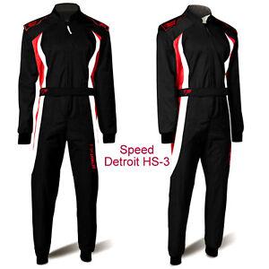 Speed-Kartoverall-Kart-Overall-Schwarz-rot-weiss-Gr-140-2XL-Karting-Suit