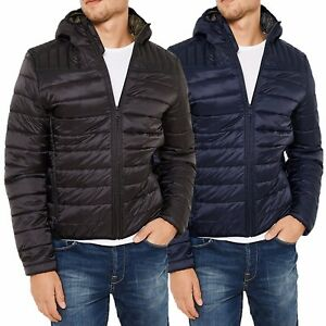 Mens-Padded-Bubble-Puffer-Quilted-Hooded-Jacket-Coat-Warm-Winter-Fashion-DIESEL