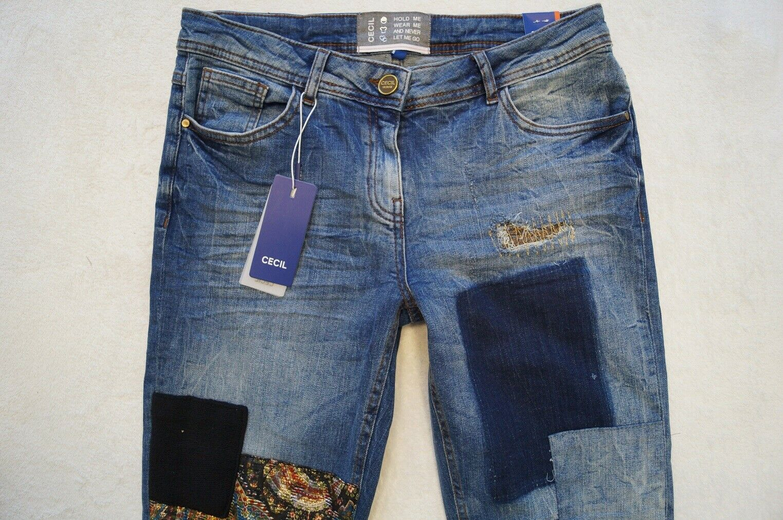 CECIL Scarlett Taperot Jeans Jeans Jeans Loose Fit W 28,29 L32 Stretch blau NEU | Schöne Kunst  853a88