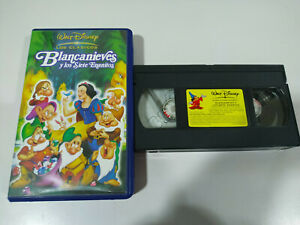BLANCANIEVES-Y-LOS-SIETE-ENANITOS-VHS-CINTA-WALT-DISNEY-2T