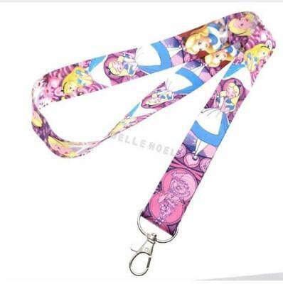 lot Cartoon Alice Neck Straps Key Chains Lanyard ID Holder a62