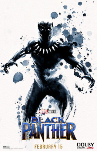 "11/"" x 17/"" Black Panther Movie Collector/'s Poster Print T16 - B2G1F"