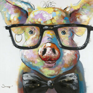 The-Pig-Wear-Glasses-Art-Poster-HD-Print-Home-Wall-Decor-Multi-Sizes