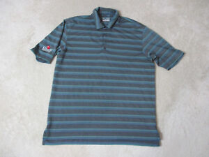 Under-Armour-Polo-Shirt-Adult-Medium-Gray-Green-Cider-Ridge-Dri-Fit-Golfer-Mens