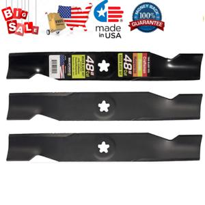 "3 Blade Set For 48/"" Mower Deck Husqvarna GT48DXLS YTH2348 Craftsman GT5000 D2000"