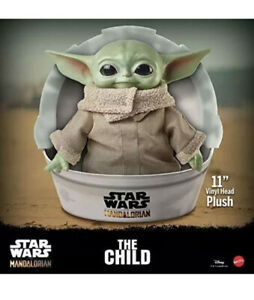 BABY-YODA-PLUSH-The-Child-Mandalorian-Star-Wars-11-inch-Mattel-Official-IN-HAND