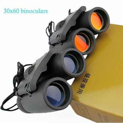 30 x 60 Zoom Outdoor Travel Foldable Day Night Vision Binoculars Telescope+Case