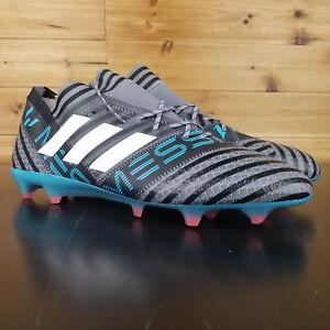 9badce0516fd Adidas Men Nemesis Mesi 17.1 FG Cleats Soccer Gray Football Shoes ...