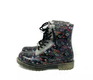 Dirty-Laundry-Floral-Jelly-Combat-Boots-Women-s-Size-6