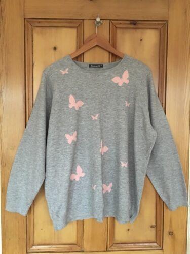 Soft Butterfly Grey Xl Bonmache Taglia Design Jumper PgB1FnxqT