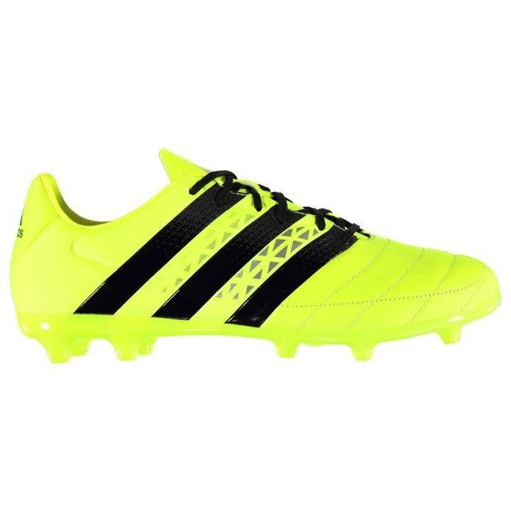 Adidas 16.3 FG Pelle Solar yellow cleats, size 11.5