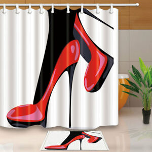 Image Is Loading Dark Feet In Red Lady High Heels Shoes