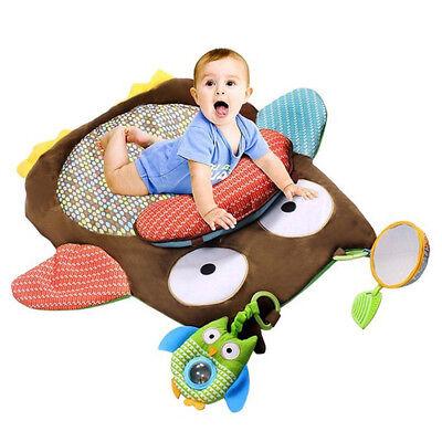 Baby Kids Cotton Carpet Owl Game Activity Play Mats Crawling Blanket Floor Rug